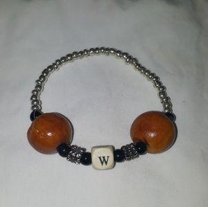 ☺Handmade alphabet  bracelet stretchy bracelet